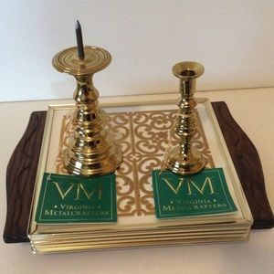 Vintage Virginia Metalcrafters Candlestick Holders